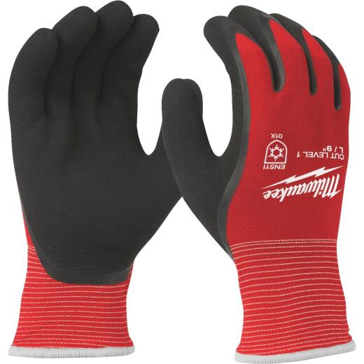 Milwaukee Men's L Latex Coated Cut Level 1 Insulated Work Glove