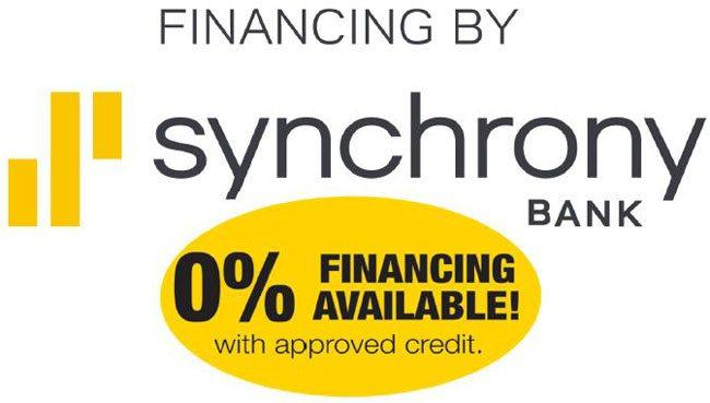 Synchrony logo with financing text