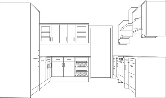 Custom drawing of a Kitchen